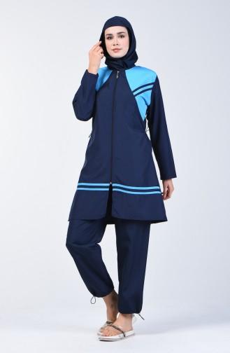 Blue Swimsuit Hijab 28120