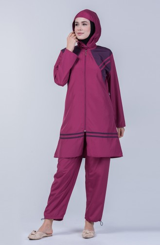 Damen Hijab Badeanzug  28125 Zwetschge 28125