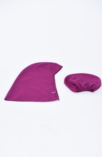 Maillot de Bain Hijab Pour Femme  28126 Noir Pourpre 28126