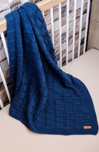 Can Baby Blanket Navy Blue 00001-02