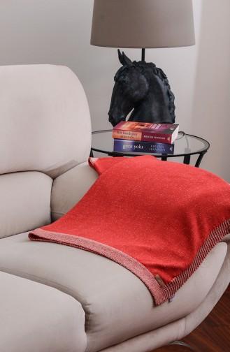 Eros TV Blanket Red Beige 00002