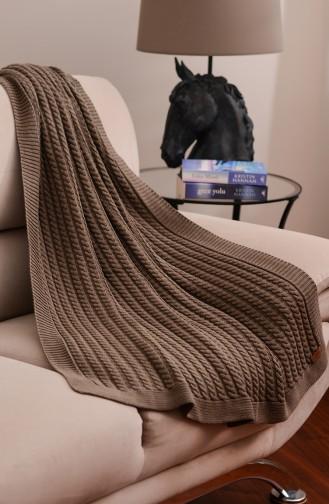 Gözde Tv Blanket 100x160 Gözde00002-01 Khaki 00002-01