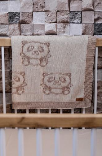 Kaan Baby Blanket 90x90 Kaan00001-01 Brown Beige 00001-01