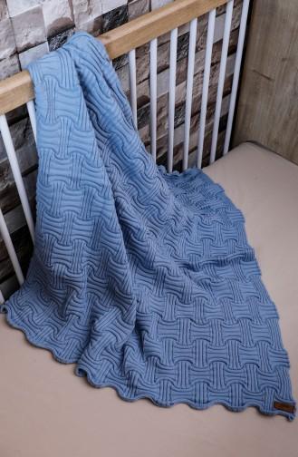 Kuzey Bebek Battaniyesi 90x90 Kuzey00001-02 Mavi 00001-02