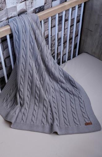 Poyraz Baby Blanket 90x90 Poyraz00001-2 Gray 00001-2