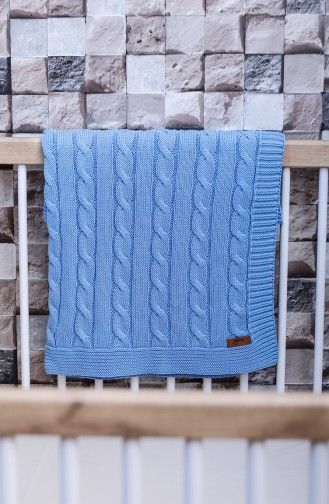 Poyraz Baby Blanket 90x90 Poyraz00001-4 Blue 00001-4