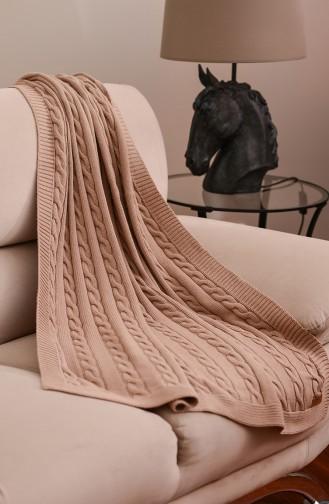 Poyraz Tv Blanket 100x170 Poyraz00002-2 Coffee 00002-2