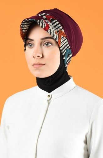 Şapkalı Bone 7013-03 Mor