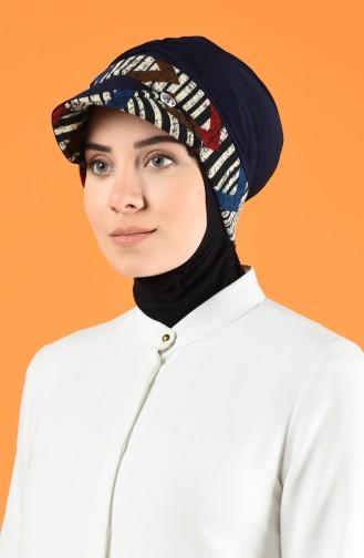 Şapkalı Bone 7013-05 Lacivert