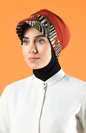 Bonnet Avec Chapeau 7013-07 Brique 7013-07