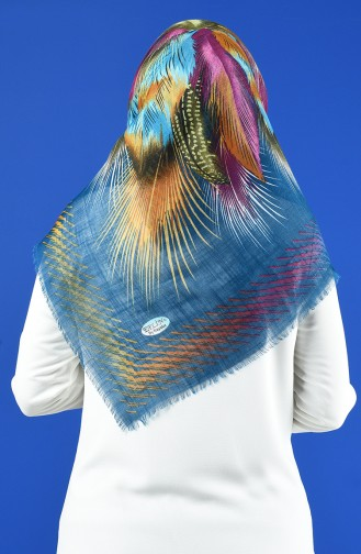 Patterned Flamed Scarf 901598-17 Oil 901598-17