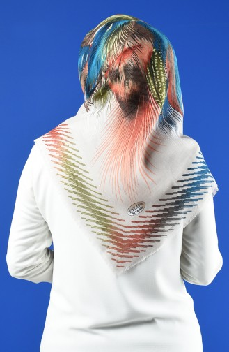 Patterned Flamed Scarf 901598-19 Stone 901598-19