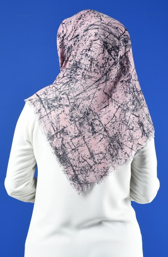 Patterned Flamed Scarf 901600-14 Powder 901600-14