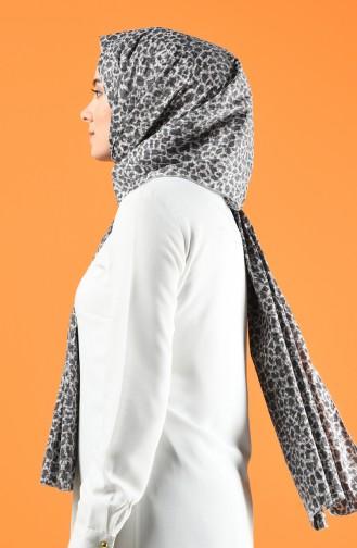 Leopard Print Crepe Shawl 4651-02 Smoke 4651-02