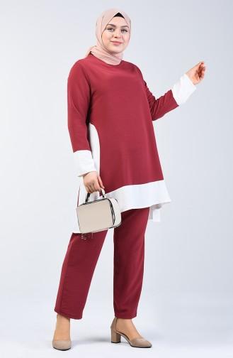 Aerobin Fabric Tunic Trousers Double Set 8327-05 Dark Rose Dry 8327-05