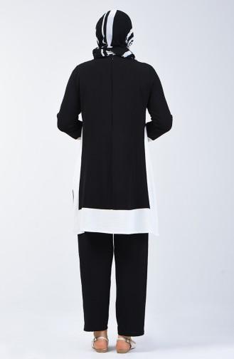 Aerobin Fabric Tunic Trousers Double Set 8327-07 Black 8327-07