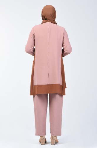 Aerobin Fabric Tunic Trousers Double Set 8327-10 Mink 8327-10