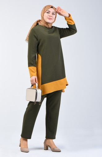 Aerobin Fabric Tunic Trousers Double Set  8327-12 Khaki 8327-12