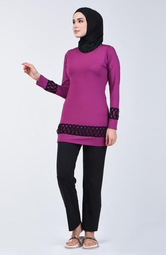 Hijab Badeanzug 1856-02 Zwetschge 1856-02