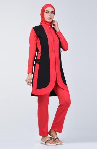 Hijab Badebekleidung  1876-01 Schwarz 1876-01