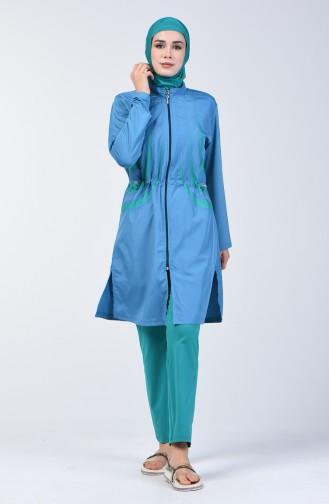 Hijab Badebekleidung 1877-01 Petroleum 1877-01