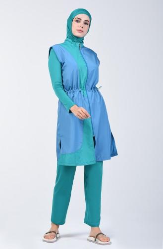 Maillot de Bain Hijab 1882-01 Pétrole 1882-01