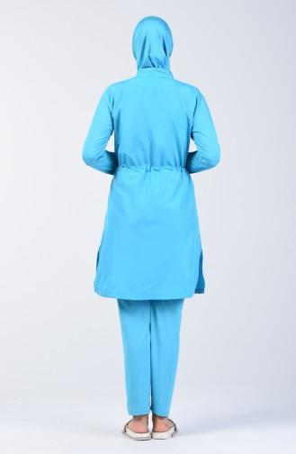Hijab Badebekleidung 1974-01 Türkis 1974-01