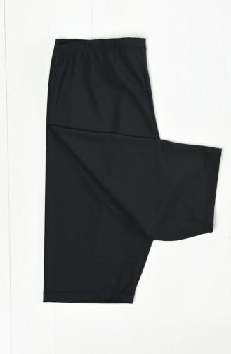 Diz Üstü Havuz Tayt 0120-01 Siyah