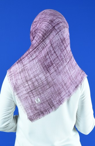 Patterned Scarf Dark Lilac 901601-03