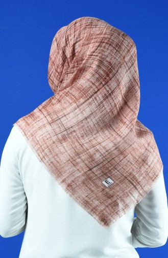 Patterned Scarf Light Brown 901601-08
