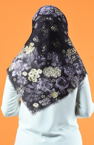 Patterned Scarf Dark Purple 901602-17