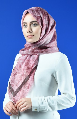 Patterned Flamed Scarf 901603-02 Powder 901603-02