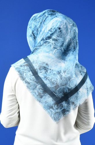 Patterned Flamed Scarf 901603-03 Mint Blue 901603-03