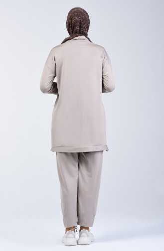 بدلة رياضية بني مائل للرمادي 0417-02