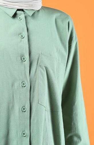 Oversize Gömlek 5291-06 Yeşil