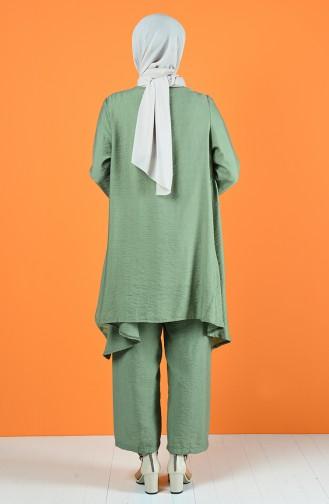 Aerobin Fabric Asymmetric Tunic Trousers Double Suit 6630-05 Khaki 6630-05