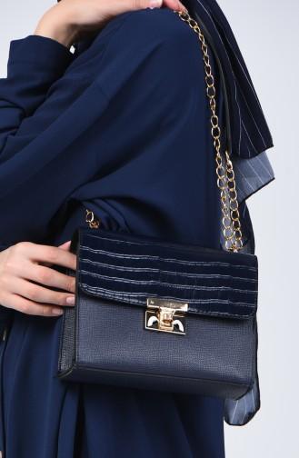 Navy Blue Shoulder Bag 12-04
