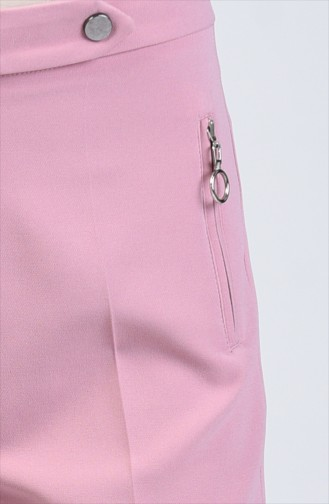 Pocket Detailed Straight Trotter Trousers 3160-03 Rose Dry 3160-03