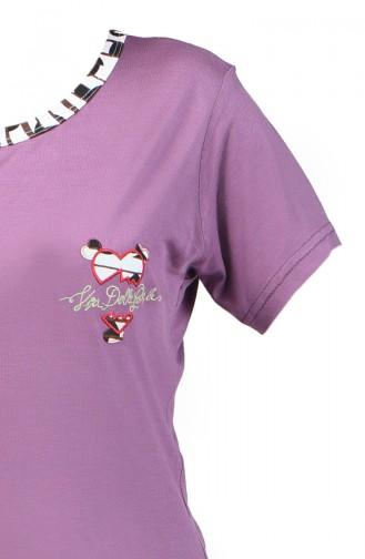 Short Sleeve Pajama Suit 0001-01 Purple 0001-01