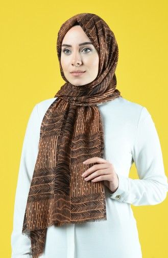 Patterned Cotton Shawl 6923-01 Tobacco 6923-01