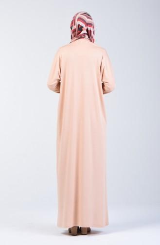 Yarasa Kol Elbise 8029-01 Pudra