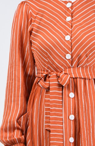 Aerobin Fabric Belted Dress 7090-01 Tile 7090-01
