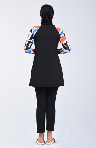 Maillot de Bain Hijab Noir 1848-02