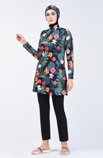 Maillot de Bain Hijab 1944-01 Noir 1944-01