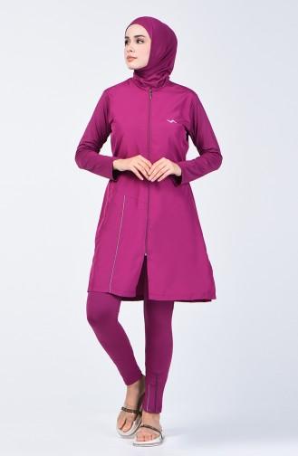 Maillot de Bain Hijab 1975-03 Plum 1975-03