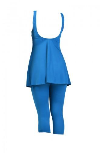 Oil Blue Swimsuit Hijab 0119-04