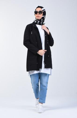 Black Trench Coats Models 6075-02