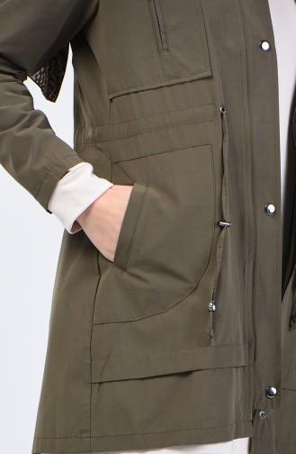 Khaki Trench Coats Models 6075-04