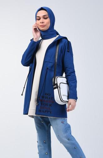 Indigo Trench Coats Models 6078-03