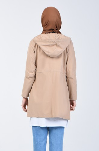 Beige Trench Coats Models 6079-01